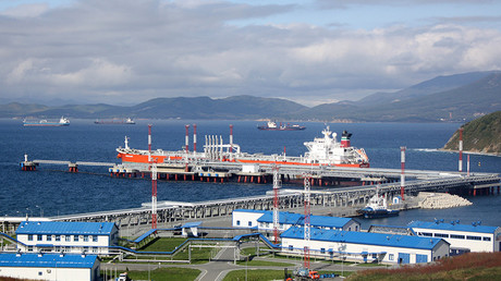 A general view shows the Kozmino oil-loading port in the bay of Kozmino, about 100 km (62 miles) east of Russia's city of Vladivostok © Jessica Bachman