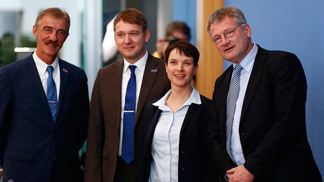 Members of the anti-immigration party Alternative for Germany (AfD) © Pawel Kopczynski
