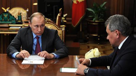 Russian President Vladimir Putin and Defense Minister Sergey Shoigu © kremlin.ru