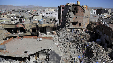 Buildings, which were damaged during the security operations and clashes between Turkish security forces and Kurdish militants, are seen in the southeastern town of Cizre in Sirnak province, Turkey © Sertac Kayar