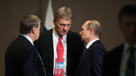 Russian President Vladimir Putin; Dmitry Peskov © Sergey Guneev