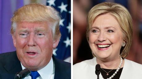 Republican U.S. presidential candidate Donald Trump ,Democratic U.S. presidential candidate Hillary Clinton © Scott Audette, Javier Galeano