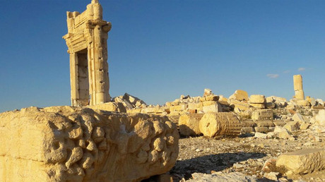 The Temple of Bel in Palmyra blown up by Islamic State (IS, formerly ISIS/ISIL) militants. © Lizzie Phelan