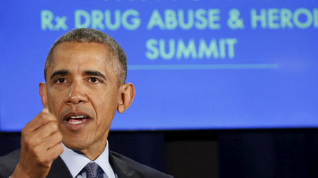 U.S. President Barack Obama speaks during a National Rx Drug Abuse and Heroin Summit in Atlanta, Georgia March 29, 2016. © Kevin Lamarque