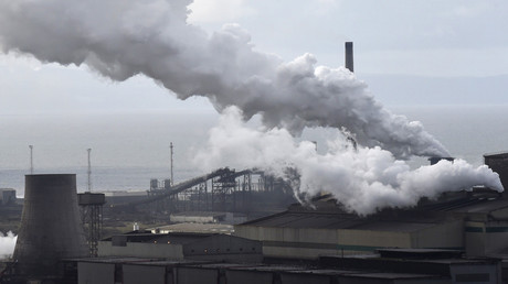 A general view shows the Tata steelworks in Port Talbot, Wales, Britain © Rebecca Naden