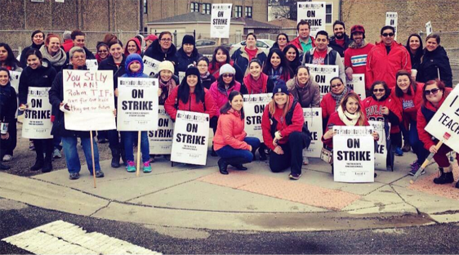 Chicago teachers strike against austerity duo 'Rahm & Rauner'