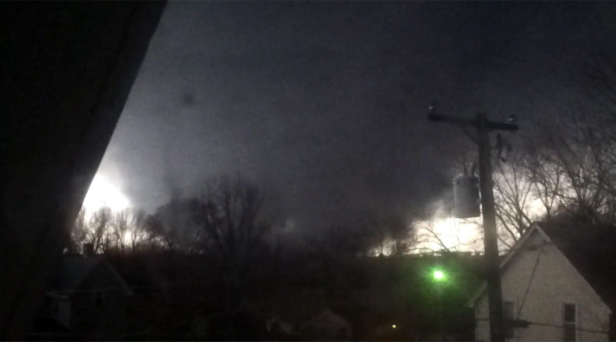 Filmed from within: Terrifying video shows moments tornado rips through house