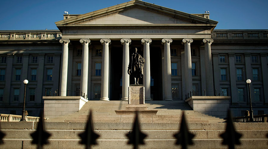 The U.S. Treasury Department building in Washington, DC. © Chip Somodevilla / Getty Images / AFP