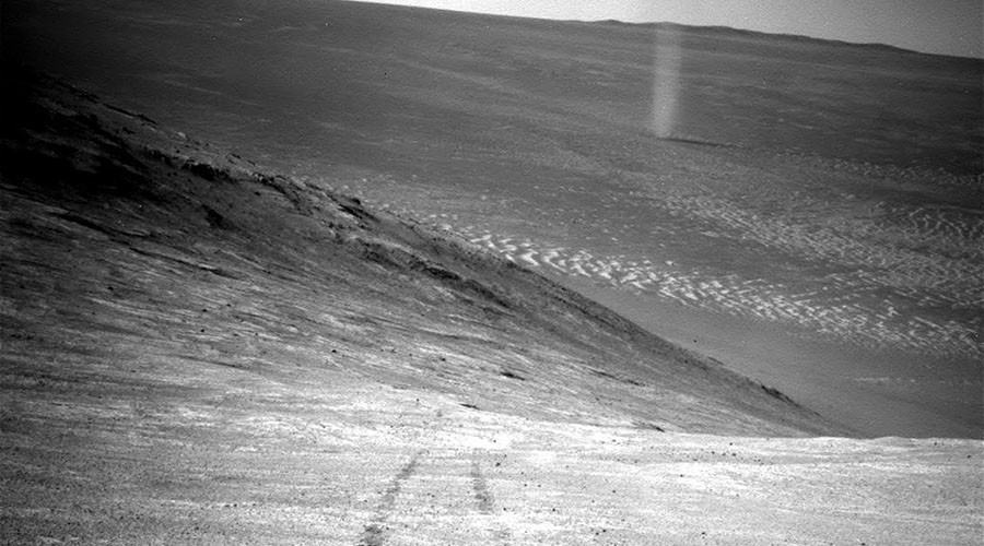 Eerie image of Martian 'dust devil' captured by NASA's Opportunity rover (PHOTO)