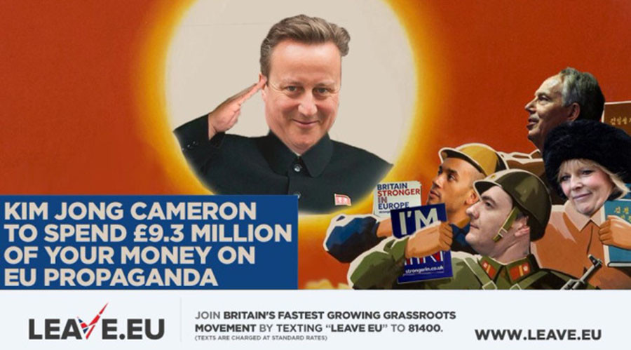 Brexiteers mock 'Kim Jong Cameron' as 130,000 say 'no' to £9mn pro-EU leaflet