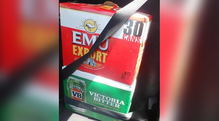 Booze before babies: Aussie driver charged for putting seatbelt on beer instead of children