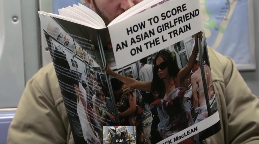 'Definitely not porn': Man trolls subway by reading outrageously-titled books (VIDEO)