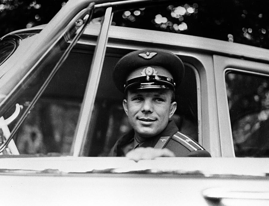 Yuri Gagarin, the world's first spaceman, Hero of the Soviet Union © Yuryi Abramochkin