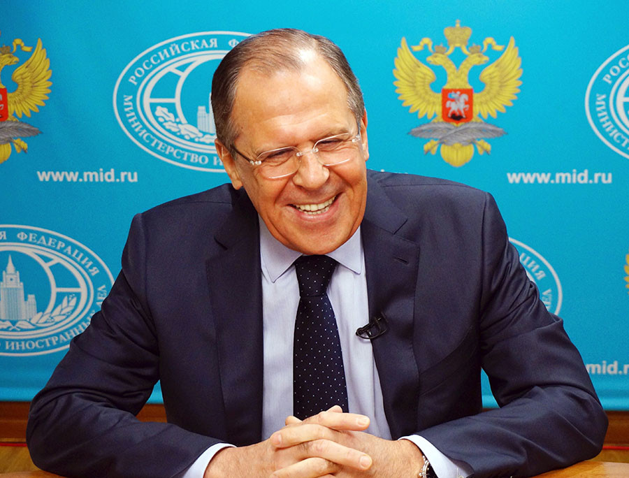 Russian Foreign Minister Sergey Lavrov. ©The Ministry of Foreign Affairs of the Russian Federation