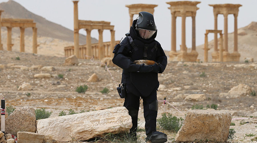 Russian sappers defuse 3,000 bombs in Palmyra in 12 days - Defense Ministry