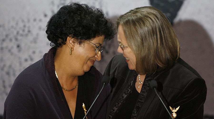 Aicha El-Wafi and Phyllis Rodriguez (R). ©Arnd Wiegmann