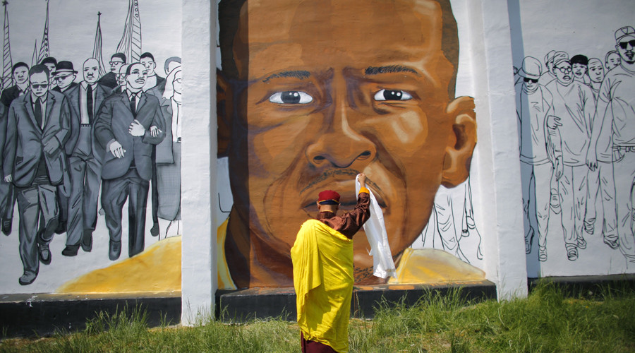 A mural of Freddie Gray in Baltimore, Maryland. © Carlos Barria