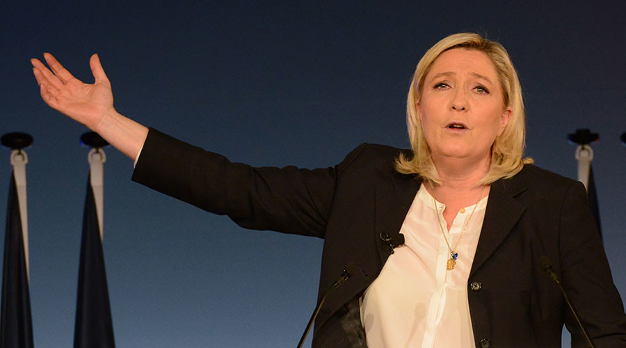 Marine Le Pen, French National Front political party leader. ©Jean-Pierre Amet