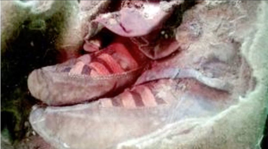 Mongolian mummy's 1,500yo 'Adidas' trainers have internet hooked (PHOTO)