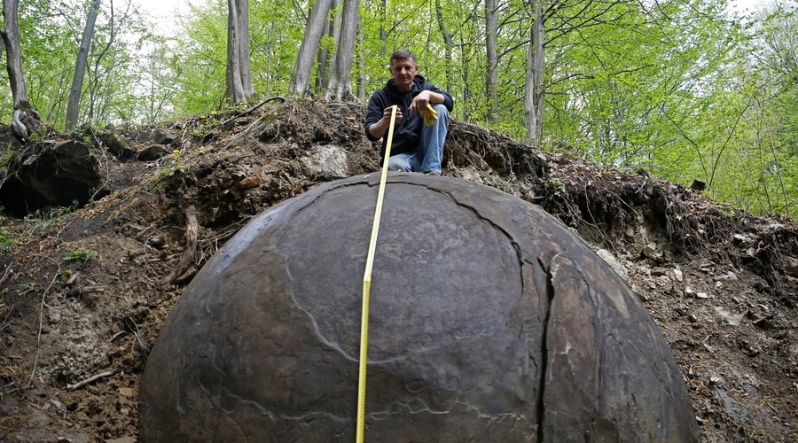 Mysterious massive stone ball discovered by Bosnian 'Indiana Jones'  (VIDEO, POLL)