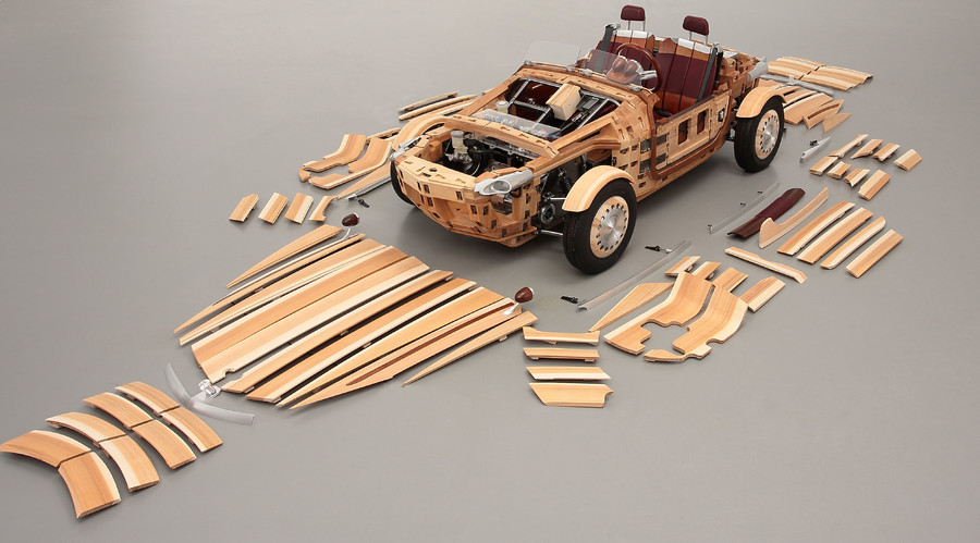 Toyota's wooden 'concept' roadster built for time, not speed (VIDEO)
