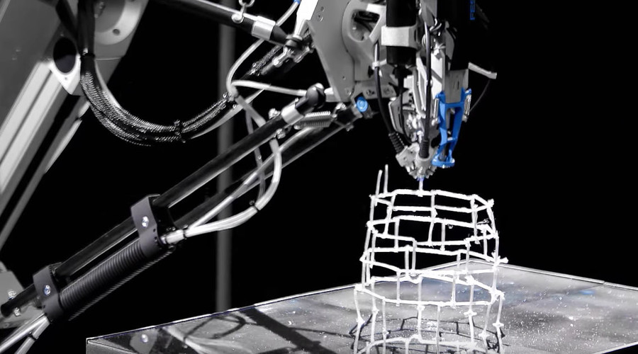 Incredible 3D 'Cocooner' printer spins intricate web of design (VIDEO)
