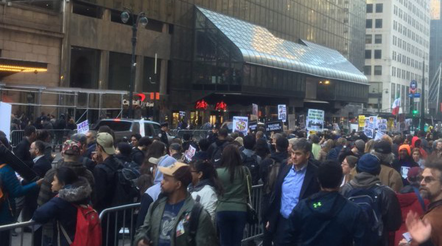 NYPD arrests anti-Trump protesters amid Republican gala (PHOTO, VIDEOS)