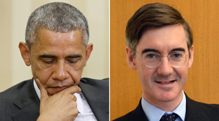 U.S. President Barack Obama (L), British Conservative Party politician Jacob William Rees-Mogg. © Reuters / Wikipedia