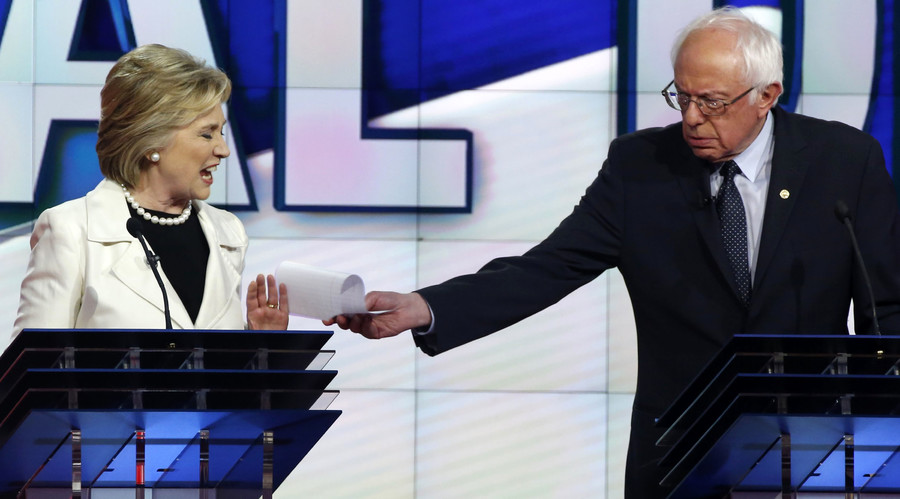 Sanders now leading Clinton in national poll ahead of Vatican visit