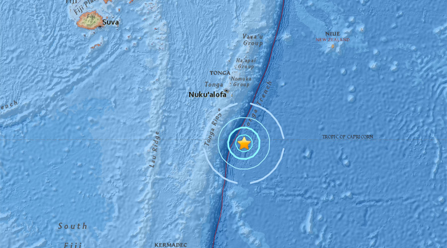 Powerful 5.8-magnitude quake hits Tonga – USGS