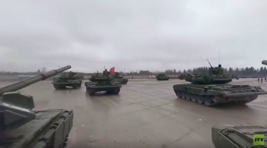 Ride with a tank in RT's 360 video of Moscow V-Day parade rehearsal