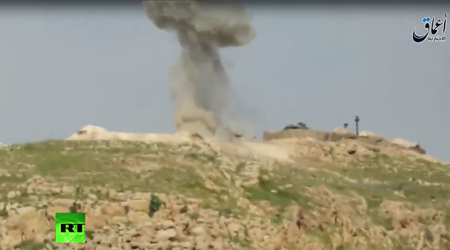 ISIS missile allegedly hits Turkish tank near Mosul (VIDEO)