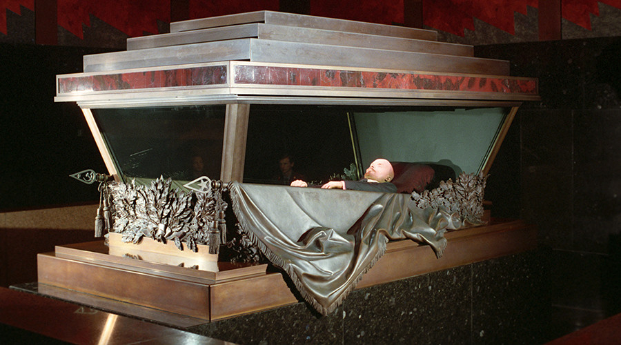 The embalmed body of Vladimir Lenin in the Mausoleum in Red Square, Moscow © Oleg Lastochkin