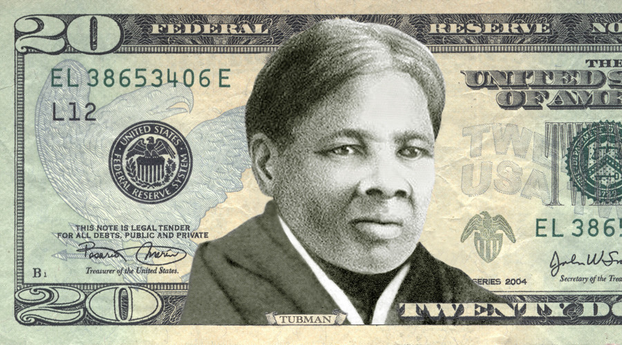 "This image provided May 13, 2015 by the ""Women On 20's"" organization shows abolitionist Harriet Tubman on the US twenty dollar bill © Women On 20's"