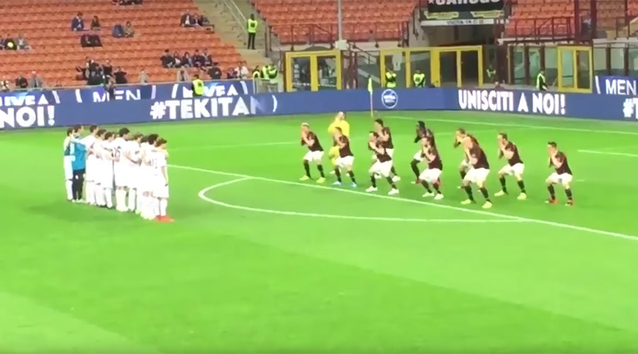 Bizarre 'AC Milan haka' causes ridicule (VIDEO)