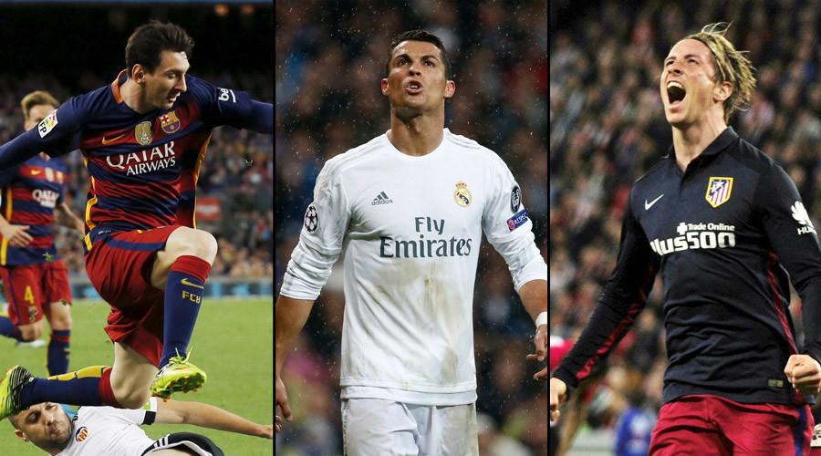Lionel Messi, Cristiano Ronaldo and Fernando Torres © Reuters