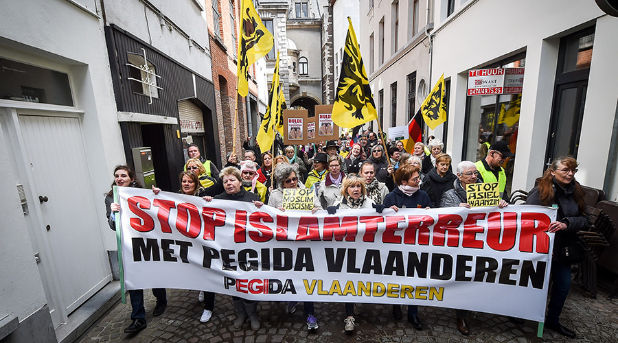PEGIDA protesters clash with police during rally in northern Belgium (VIDEO)