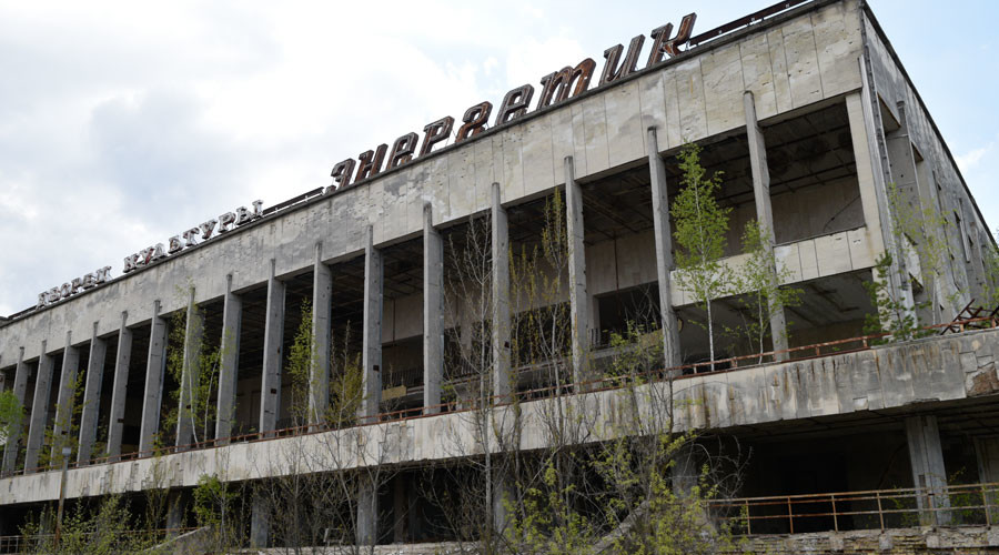 Abandoned building of the Palace of Culture in the Chernobyl nuclear plant's exclusion zone. © Stringer