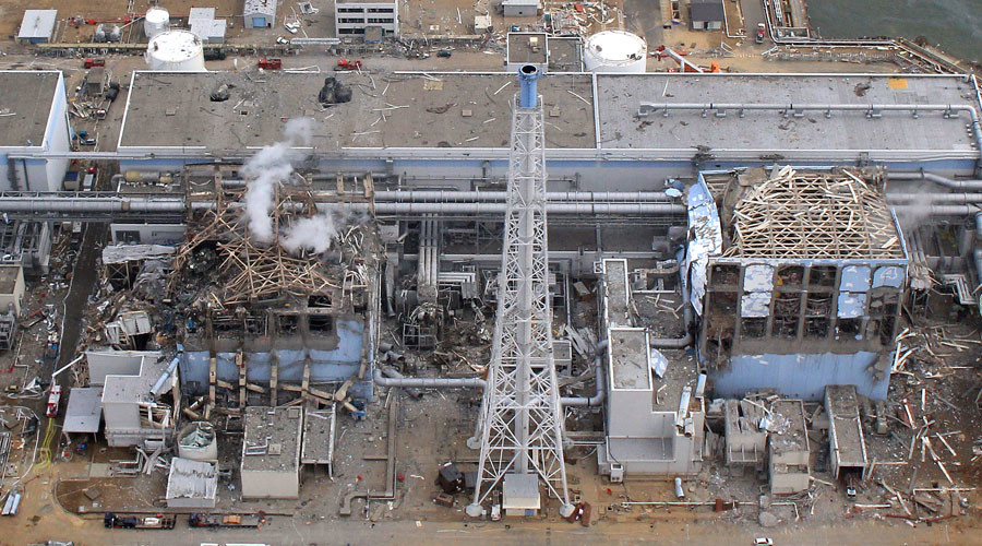 An aerial view of the Fukushima Daiichi Nuclear Power Station is seen in Fukushima Prefecture © HO