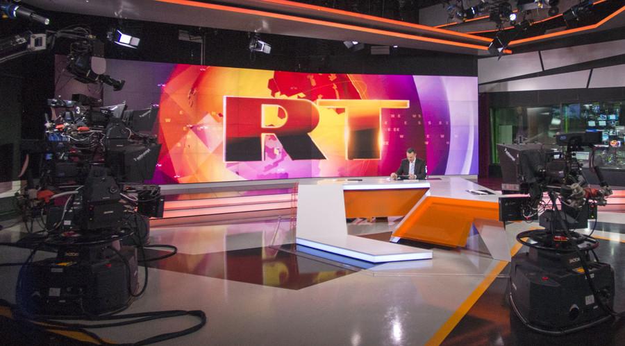Russia Today English language newsroom. © Evgeny Biyatov