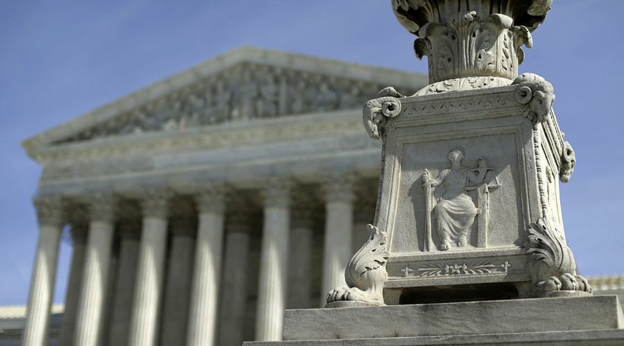 The exterior of the U.S. Supreme Court is seen in Washington. © Gary Cameron