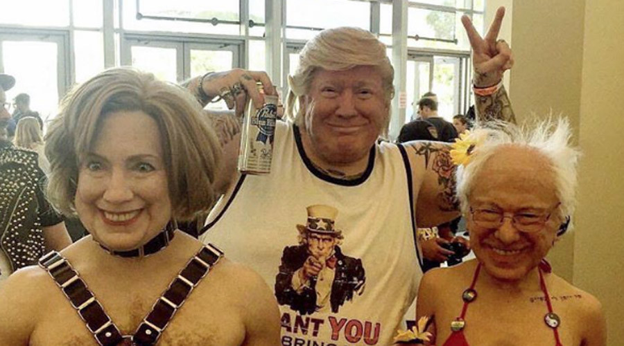 Super realistic & creepy Trump, Clinton, & Sanders masks cannot be unseen