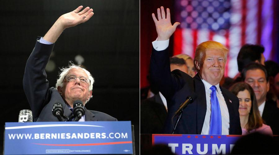 Democratic U.S. presidential candidate Bernie Sanders and U.S. Republican presidential candidate Donald Trump © Reuters