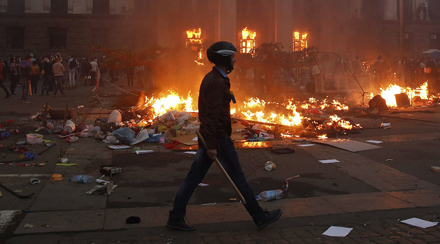 Russia urges UN to investigate 2014 Odessa massacre in which 48 people burned to death