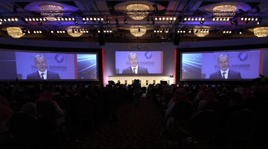 Former British Prime Minister Tony Blair speaks at the Global Competitiveness Conference in Riyadh in 2010 © Fahad Shadeed