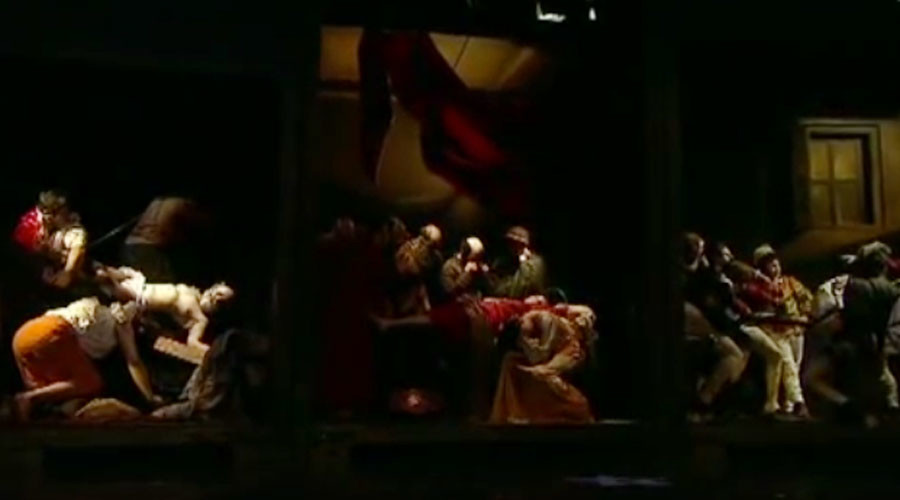 Life imitates art: Caravaggio masterpieces come alive in spectacular display (VIDEO)