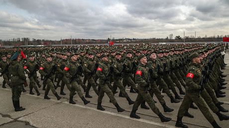 Watch RT's exclusive drone shots of Moscow V-Day parade rehearsal