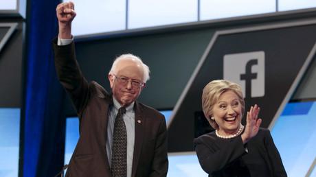 Democratic U.S. presidential candidates Senator Bernie Sanders and Hillary Clinton © Javier Galeano