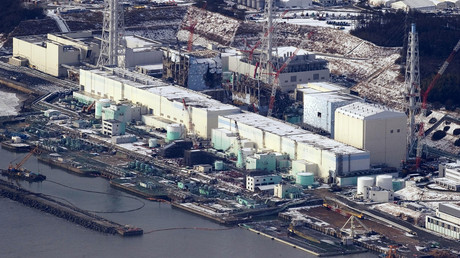Tokyo Electric Power Co. (TEPCO)'s tsunami-crippled Fukushima Daiichi nuclear power plant's (L to R) No.4, No.3 No.2 and No.1 reactor buildings are seen in Fukushima prefecture. © Yomiuri Shimbun