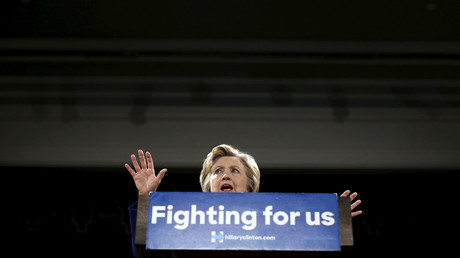 Democratic U.S. presidential candidate Hillary Clinton speaks at a